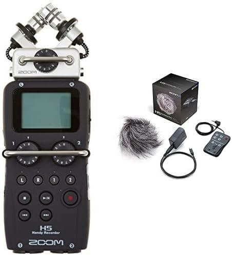 Zoom H5 - Enregistreur Multipistes, Noir & APH-5 Pack d'accessoires pour H5 Noir