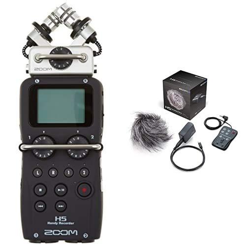 Zoom H5 - Grabador De Voz (Digital, De 4 Pistas, Portátil), Color Negro+ APH-5 - Accesorios para Grabadoras H5
