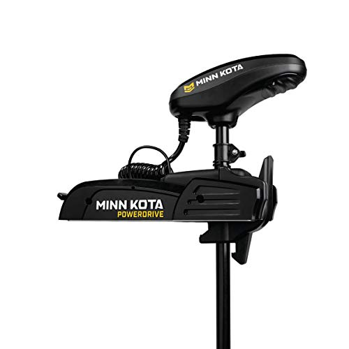 Minn Kota 1358737 PowerDrive Freshwater Electric-Steer Bow-Mount Trolling Motor with Digital...