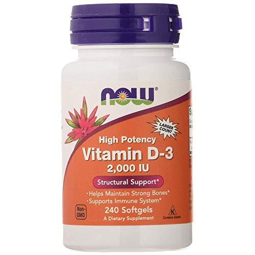 Vitamina de alta potência D-3 2000 Iu 240 Sgels