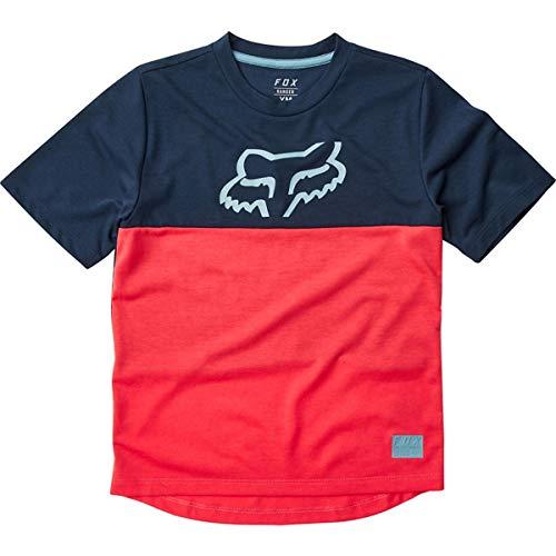 Fox Kids MTB - Camiseta de manga corta para niños, color rojo