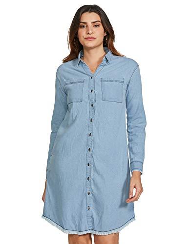 Amazon Brand – Inkast Denim Co. Women's Cotton Shirt Knee-Length Dress