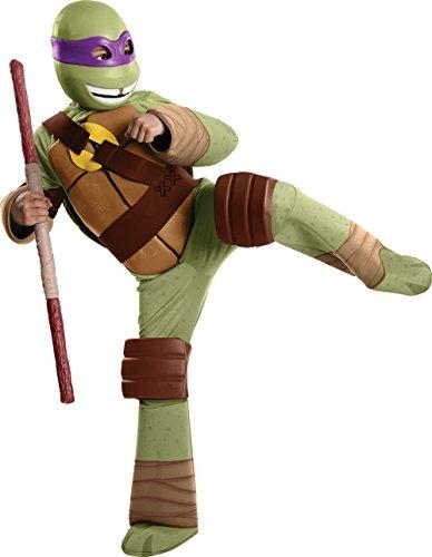 Donatello Kostüm Ninja Turtles für Kinder Gr. 128-140, 8-10 Jahre