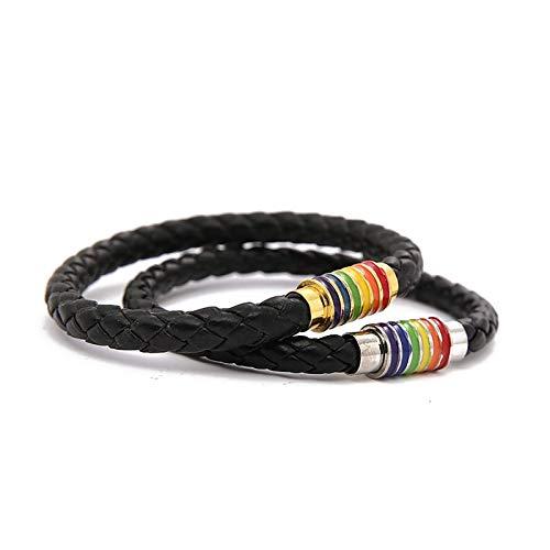 TABANA 2 unidades/1 par de pulseras para amantes LGBT Braslet, pulsera de orgullo arco iris, gay y lesibiano Orgullo, accesorios para gay y lesbianas tamaño ajustable