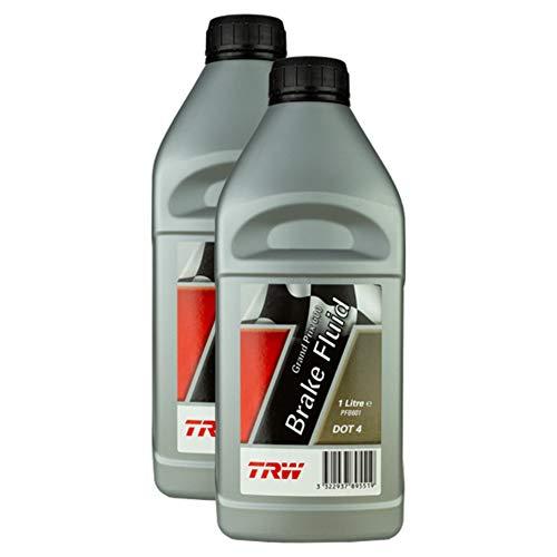 2x Trw Bremsflüssigkeit Brake Fluid Grand Prix Racing Dot 4 1 L Pfb601