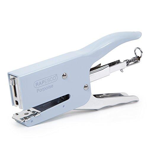 Rapesco Porpoise - Grapadora metalica de tenaza, 50 hojas de capacidad, usa grapas 26 y 24/6-8, color azul