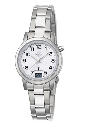 Master Time Funk Quarz Damen Uhr Analog-Digital mit Edelstahl Armband MTLA-10301-12M