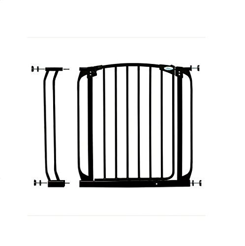 Dreambaby Chelsea Auto Close Safety Gate (Black, 28-35.5 inches)