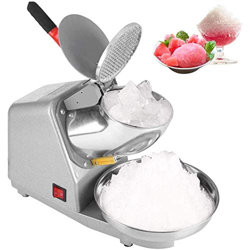 XGFSFL 110V elektrischer Eisrasierer, manuell rasierte Eismaschine aus Edelstahl, Eismesser mit Zwei Klingen, Eisschneekegel, rasierte Eismaschine, für den gewerblichen Heimgebrauch