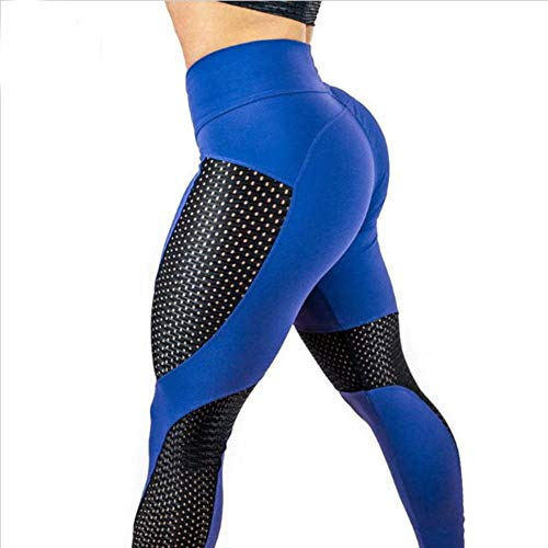 LLD Pantalones de Yoga Pantalones de Fitness Skinny Ladies Women Leggings de Yoga Push Up Fitness Tights Summer Sport Wear Scrunch Butt Leggings Energy Seamless Gym Running Pants, Blue, XXXL