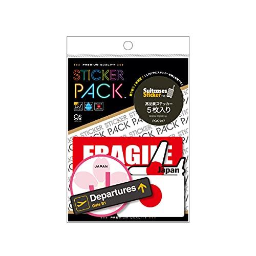 【5枚セット】 ステッカーパック スーツケースステッカー アソート 旅行 目印 FRAGILE 空港 飛行機 荷物 PCK017 gs 公式グッズ