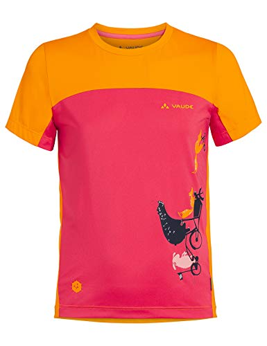 VAUDE Kinder T-Shirt Kids Solaro T-Shirt II, Bright pink, 92, 42292