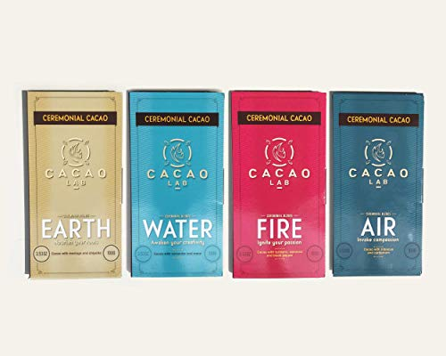 Ceremonial cacao blend variety pack, four sacred elements