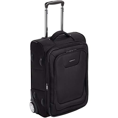 AmazonBasics Expandable Softside Carry-On Luggage Suitcase With TSA Lock And Wheels - 24 Inch, Black