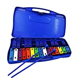 Seika 鉄琴 カラフル 25音 ミュージカル教材 2マレット付き オルフ楽器 (blue)