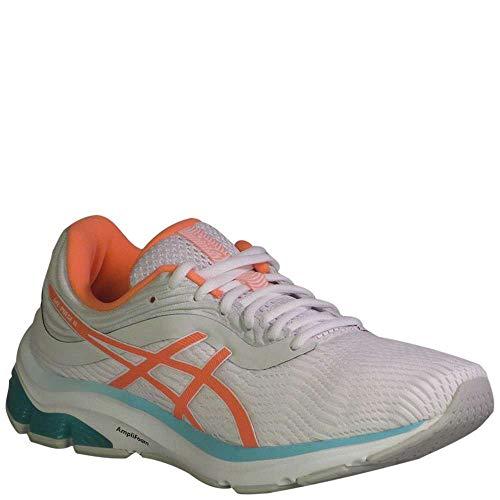 ASICS Women's Gel-Pulse 11 Running Shoes, White/Sun Coral, 9.5 M US