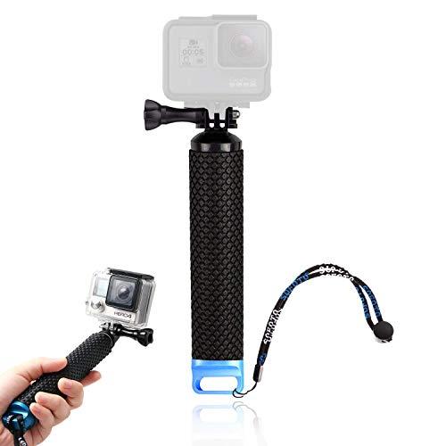 49 cm Bastone Selfie Camera, Bastone Selfie per GoPro, Selfie Stick Impermeabile, Selfie stick Retrattile, per GoPro3 + / 4/3/2/5 sj4000, Manico in Gomma, per Immersioni, Arrampicata, Outdoor, Surf