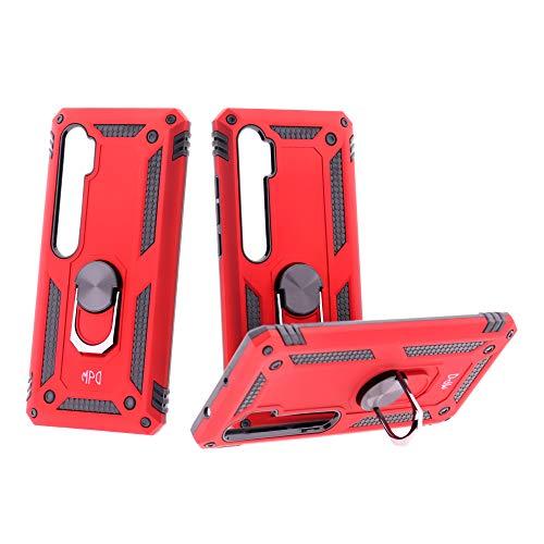 Max Power Digital Funda para móvil Xiaomi Mi Note 10 / Mi Note 10 Lite Anillo Giratorio 360 Metálico Imán Magnético Carcasa Rígida Antigolpes Resistente (Xiaomi Mi Note 10 / Mi Note 10 Lite, Rojo)