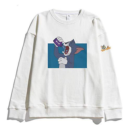 pour des Hommes Col Ras du Cou Sweats Manches Longues Sweat-Shirts Pullover G-M