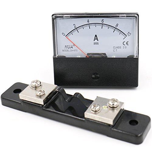 Heschen - Medidor de electricidad montado en un solo panel DH 670 DC 10 A Clase 2.0