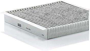 MANN-FILTER Filtro de habitáculo CUK 2641, Filtro de habitáculo con carbón activo, para automóviles