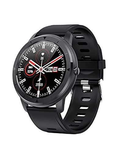 """KSIX Reloj Inteligente Eclipse para Hombre Multideporte. Smartwatch Táctil 1.28"""" IPS Impermeable con Bluetooth. Pulsera de Actividad con Pulsómetro, Medidor de Presión Arterial y Oxígeno en Sangre."""