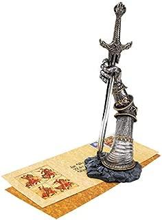 Design Toscano King Arthur's Sword of Excalibur Letter Opener Desk Accessory Statue, 10 Inch, Polyresin, Pewter Finish