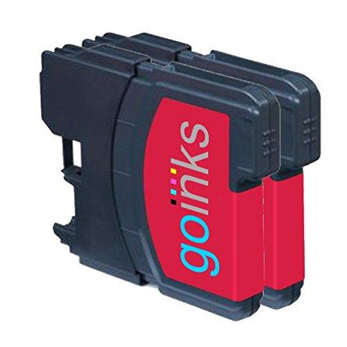 2 Go Inks Cartuchos de Tinta Magenta para reemplazar Brother LC980M & LC1100M Compatible/Non-OEM para Brother DCP & MFC Impresoras