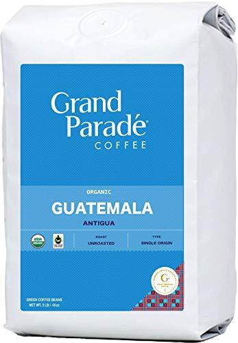 Grand Parade Coffee, 3 LB Unroasted Coffee Beans - Organic Guatemala Antigua SHG EP - High Altitude Single Origin - Specialty Arabica - Washed Process - Low Acid - Fair Trade - Fresh Raw Green Coffee - 3 Pound Bag