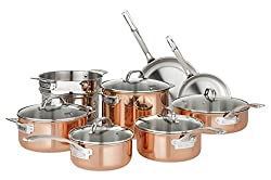 Viking Culinary Copper Stainless Steel Cookware Set