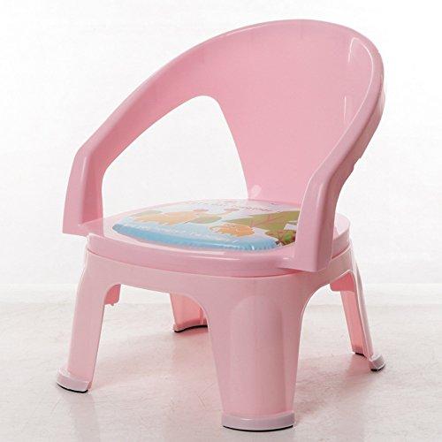 Sofa kruk Brisk- Children's eetkamerstoel Met klankstoel Bring diner tafel Kinderstoel eettafel Rugleuning kruk plastic Light Pink - Without Plates