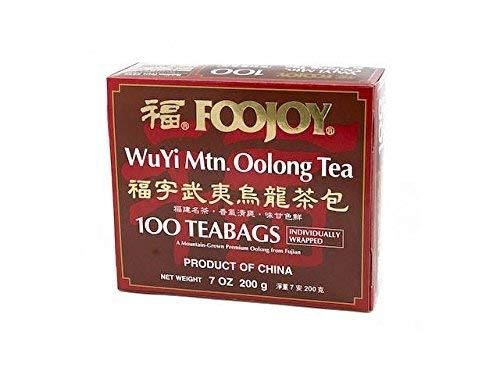 Foojoy Wuyi Oolong (Wu Long) Weight Loss Tea 100 Tea Bags (Pack of 2)