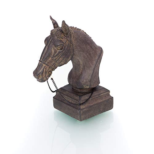 Antikas - Tischdekoration Pferdekopf - Skulptur Pferd Geschenke Pferde Figuren Tiere