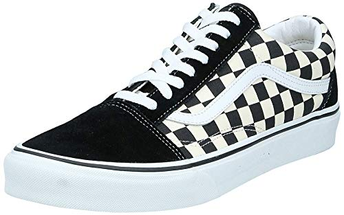 Vans Unisex Old Skool Classic Skate Shoes, (Primary Checkered)...