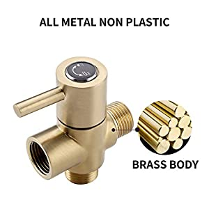 KES SOLID Brass Shower Arm Diverter Valve Bathroom Universal Shower System Component Replacement Part for Hand Held Showerhead and Fixed Spray Head, Oil Rubbed Bronze, PV14-7