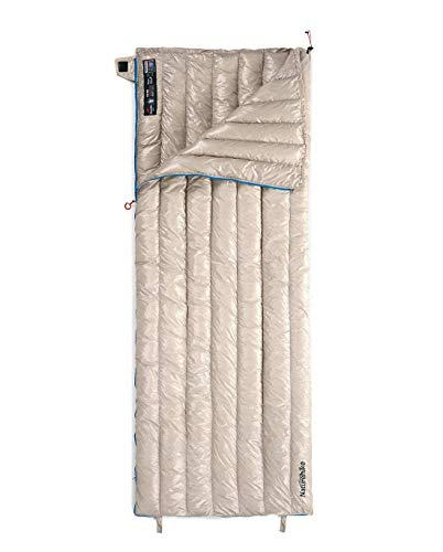 Naturehike White Ultralight Goose Down Rectangular Sleeping Bags Winter Sleeping Bags 2 ℃ Limit (Khaki)