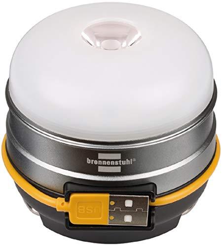 Brennenstuhl Akku LED Outdoor Leuchte OLI 0300 A (Campingleuchte für außen 350lm / Campinglampe mit bis zu 70h Leuchtdauer, Lampe zum campen inkl. USB-Powerbank, zusätzlich SOS- und Blink-Funktion)