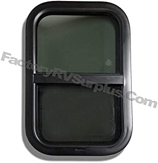 ToughGrade Vertical Slide Black RV Window 18