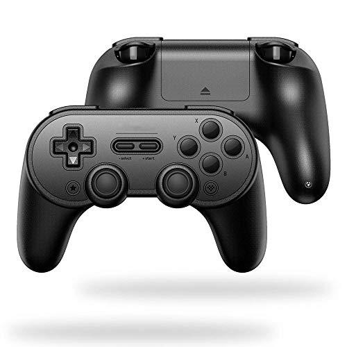 Manette de Jeu Android MacOS Bluetooth Vibration Gamepad Game Controller Gaming Portable Joystick Poignée (Couleur : Black, Size : One Size)