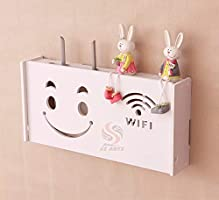 Ss Arts Engineered Wood Wall Mount WiFi Router Stand/Rack