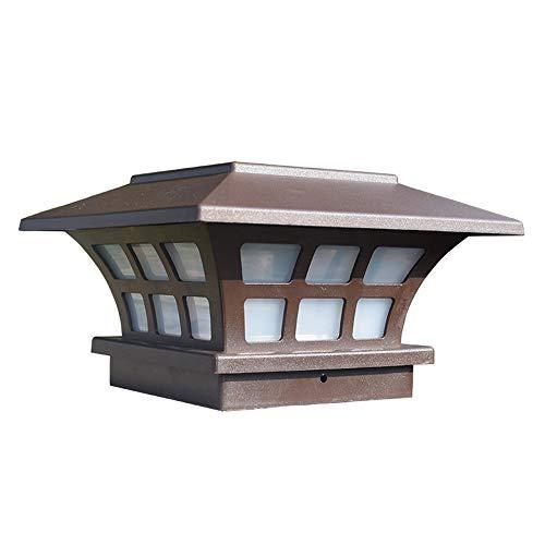 QEGY Minimalismo LED Farola de Jardín, Farola de Energía Solar Impermeable Iluminación Para Patios, Caminos y Vallas de Estilo Acrílico Luces de Poste, 10 * 10cm,White light