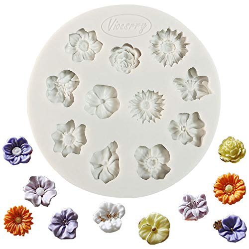 Molde de silicona para fondant, diseño de pasta de azúcar, para decoración de tartas, magdalenas, azúcar, candies