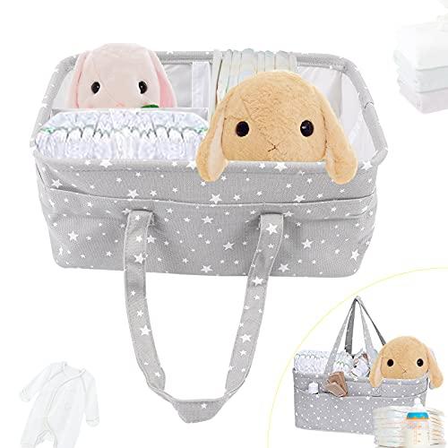 Organizador de pañales para bebé, cesta organizadora para pañales, cesta de tela, cesta para dormitorio, cesta de ropa infantil, cesta multifuncional para el hogar y viajes