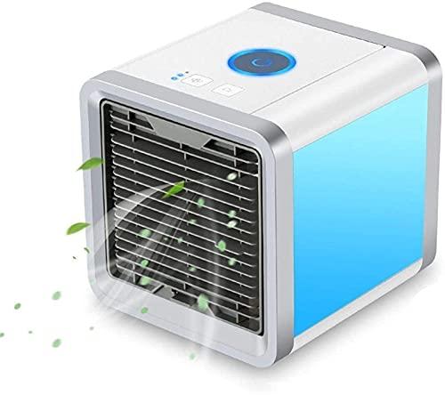 Aire acondicionado Apartamento, sin ventilador de mangueras de escape / Mini Aire de aire portátil Aire acondicionado 7 colores LED USB Espacio personal Refrigerador de refrigerador Ventilador de aire