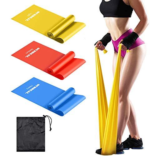 runhua Gomas Elasticas Fitness, Cintas Elasticas Musculacion, Bandas Elasticas Fitness de Tela 3 Niveles, Bandas Elasticas Musculacion para Culturismo, Yoga, Pilates