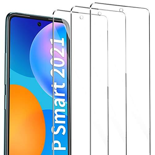 AROYI kompatibel mit Huawei P Smart 2021 Panzerglas 3 Stück, Hartglas Schutzfolie 9H Härte Anti-Öl Anti-Kratzen Tempered Glas Displayschutzfolie kompatibel mit Huawei P Smart 2021