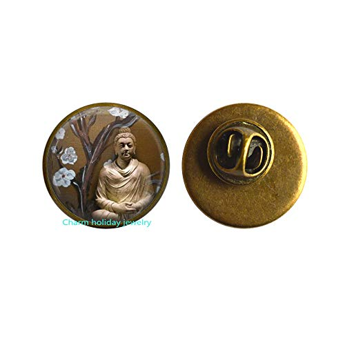 Jewellery Buddha Brooch Buddha Pin,Meditation Brooch-Yoga Teacher-Yoga Jewelry-#180