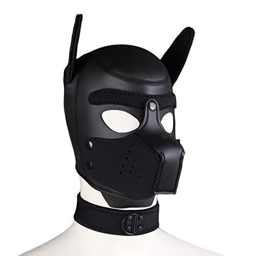 Duzzy Máscara de Rostro Completo para Perro, Cachorro, Capucha, Disfraz Unisex de Piel para Perro, máscara de Cabeza Abierta, Boca Abierta, Disfraz de Fiesta, Cosplay, Juego de rol para Halloween