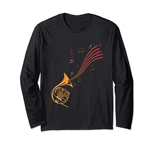 Vintage retro French Horn T-Shirt for Horn teacher student Long Sleeve T-Shirt