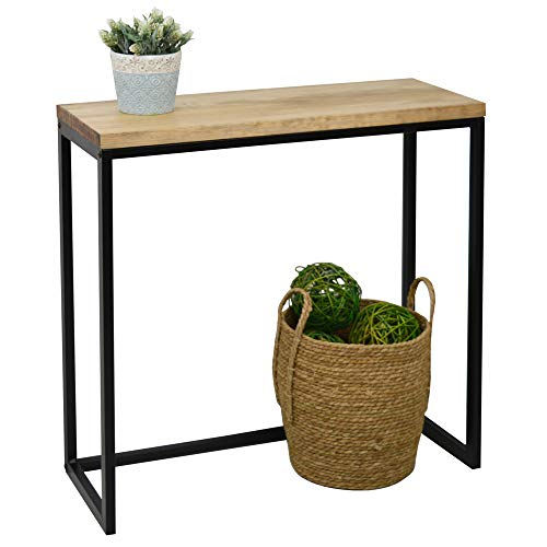 Recibidor iCub Big Wood 80x30x80cm Negro en Madera Maciza Grosor 3cm Acabado Vintage Estilo Industrial Box Furniture